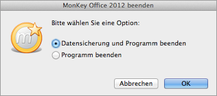 MonKey Office 2012 beenden